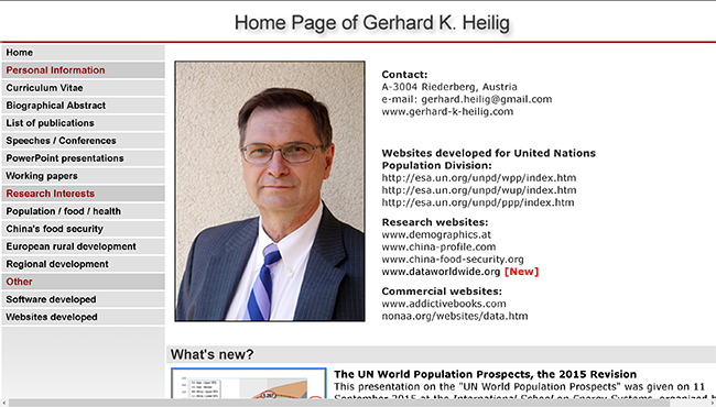 Personal website of Gerhard K. Heilig